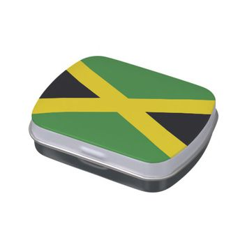 Patriotic candy tins with Flag of Jamaica