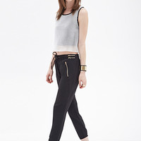 FOREVER 21 Zippered Woven Joggers