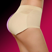 Women Body Hip Buttock Thicken Panty Seamless Breathable Fake Butt Pad Underwear