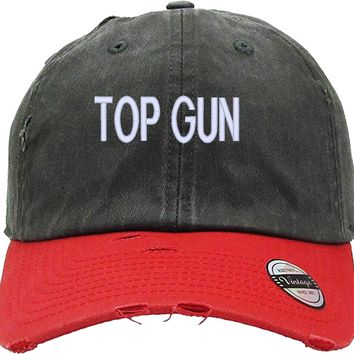 TOP GUN Distressed Baseball Hat