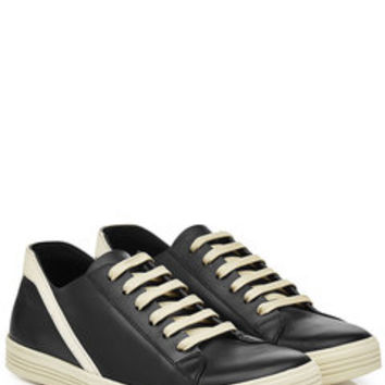 Leather Sneakers - Rick Owens | WOMEN | US STYLEBOP.COM