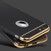Fashion Women Man Ultra-thin Shockproof Armor Plated Frame Back Cover Case for Apple iPhone 6 6S and Plus Phone Case