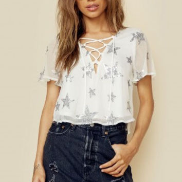OASIS LACE UP CROP TOP