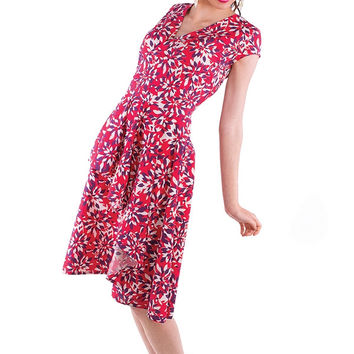 Flights of Floral Dress - Red