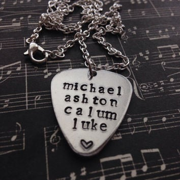 5 Seconds Of Summer Names Hand Stamped Necklace