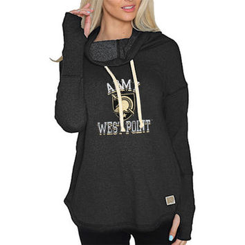Army Black Knights Original Retro Brand Women's Triblend Funnel Neck Sweatshirt - Black