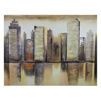 ''Building'' Oil Painting Canvas Wall Art