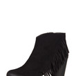 Side Fringe Ankle Booties - 5.5