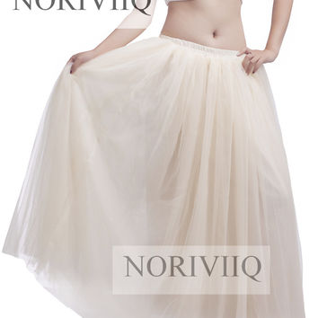 Women Ivory Petticoat Wedding Underskirt Swing Vintage Tull Jupon Rockabilly For Party Clothing  Accessories Crinoline