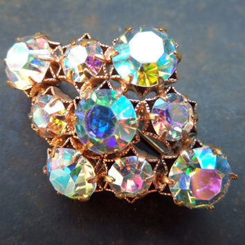 Vintage Brooch 50s, Antique Czech/German Brooch,Vintage Rhinestones Brooch,Brooch West Germany,Glass Rhinestone Brooch