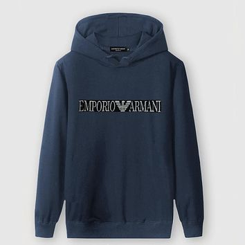 Boys & Men Armani Fashion Casual Top Sweater Pullover Hoodie