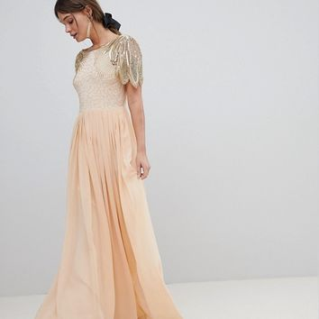 Virgos Lounge Lena Maxi Dress With Embellishment at asos.com