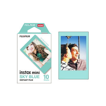 Fujifilm Instax Mini Film Sky Blue Polaroid Photo Color Instant Films