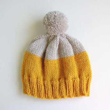 Weekender Hat in Mustard and Platinum - READY TO SHIP
