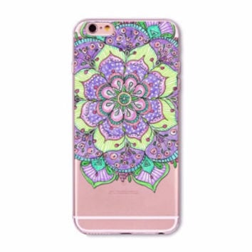 Purple Lace Mandala Boho Case for iPhone 5 5s SE 6 6s