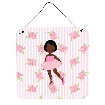 Ballerina African American Short Hair Wall or Door Hanging Prints BB5190DS66