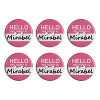 Mirabel Hello My Name Is Plastic Resin Button Set of 6