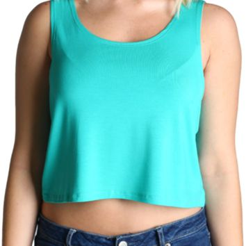 Authentic Piko Crop Top, Light Green