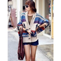 Horn Button Korean Fashion Loose Batwing Sleeve Cloths Lady Knitting Free Size Sweater @YFML604