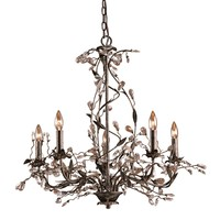 8054/5 Circeo 5 Light Chandelier In Deep Rust - Free Shipping!