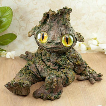 Tree Baby, Woodland Spirit, Nature Spirit, Mandrake, OOAK clay sculpture, Forest Creature, Woodland Sprite, Magical Creature, Nature Figure