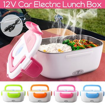 12V 40W Portable Electric Car Plug Heating Lunch Box Bento Food Container Warmer