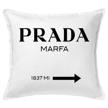 Prada Inspired Pillow Cover - Throw Pillow - Prada Pillow - Pillow Cover - Decorative Pillow - Home Decor - Bedding - Pillow Sham - Cushion