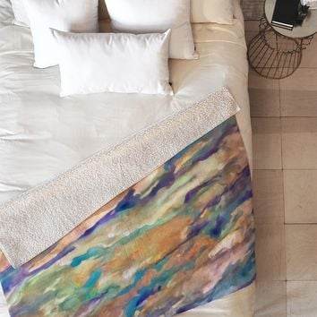 Rosie Brown Eucalyptus Fleece Throw Blanket