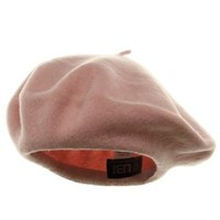Wool Beret - Pink W08S70A $12.73