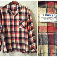 70s Vintage Flannel Shirt Lumberjack Grunge Flannel Shirt Boyfriend Shirt Button Down Vintage Oversize Men Women