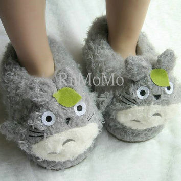 Totoro Slipper  Unisex Animal  Soft Plush  Claws  Slippers  Warm Shoes