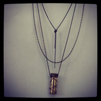 Vintage Bullet Lipstick necklace, LIMITED edition style 1 and 2