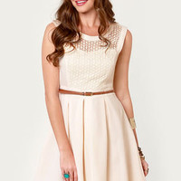 Fair Rosaline Cream Lace Dress