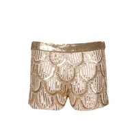 Shorts all embroidery ricamato a mano
