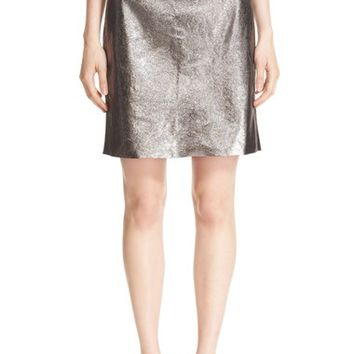Milly Metallic Leather Pencil Skirt | Nordstrom