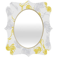 Vy La Bright Breezy Tulips Quatrefoil Mirror