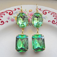 Vintage Earrings Dangle Earrings Vintage Glam by CRystalCRush