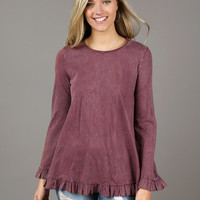 Altar'd State Queenstown Washed Top - Tops - Apparel