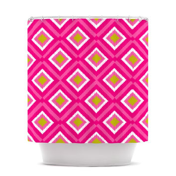 "Nicole Ketchum ""Moroccan Hot Pink Tile"" Shower Curtain"