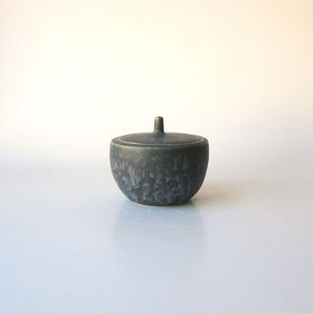 Claystone Pottery Sugar Bowl - black