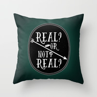 Real Throw Pillow by Page394