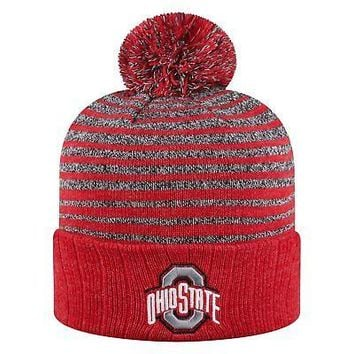 Licensed Ohio State Buckeyes Official NCAA Cuffed Knit Ritz Beanie Hat Top of the World KO_19_1