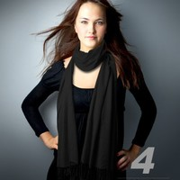 Hollywood Solid Pashmina Scarf