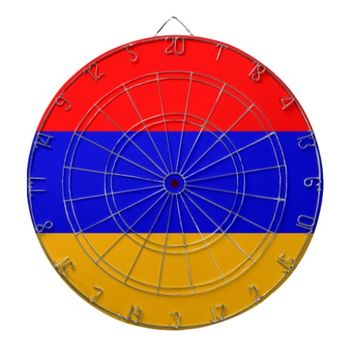 Dartboard with Flag of Armenia