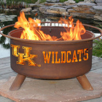UK University Of Kentucky Wildcats Portable Outdoor Grilling NCAA Fire Pit