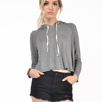 Twill Cropped Sweater Top
