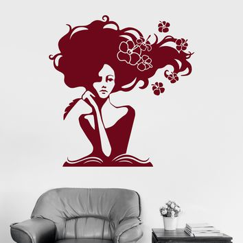 Wall Decal Pretty Girl Library Book Store Writer Dreams Vinyl Stickers Unique Gift (ig2990)