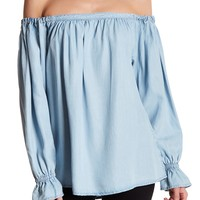 Harve Benard | Tencel Off-the-Shoulder Blouse | Nordstrom Rack