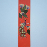 "Handmade unique bookmark ""A place for reflection"" - Pressed flowers bookmark - Unique gift - Paper bookmark - Original art collage."