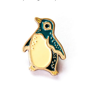 Penguin Pin - Enamel Pin by boygirlparty